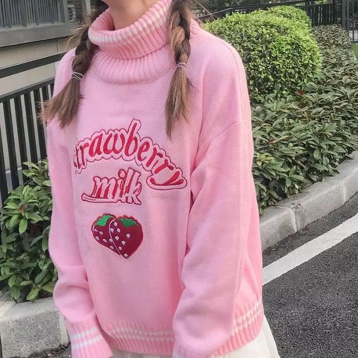 Charli Strawberry Sweater