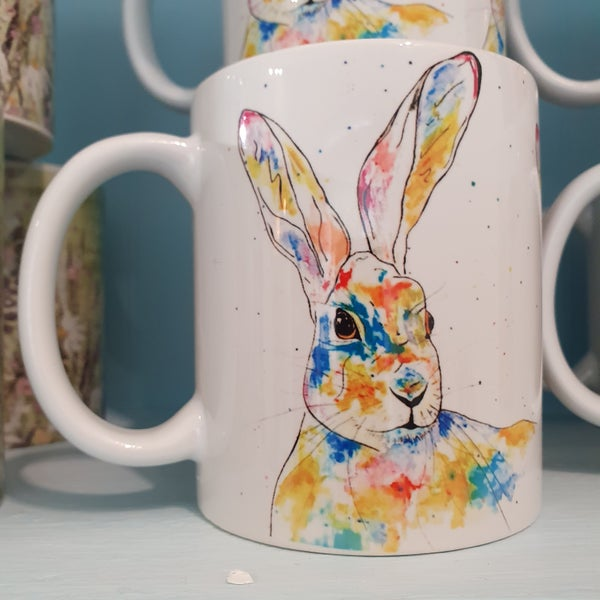 Image of Rainbow Hare Mug & Coaster Gift Set