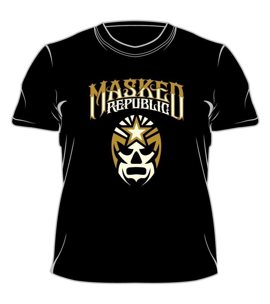Image of Masked Republic Logo T: Tan & White