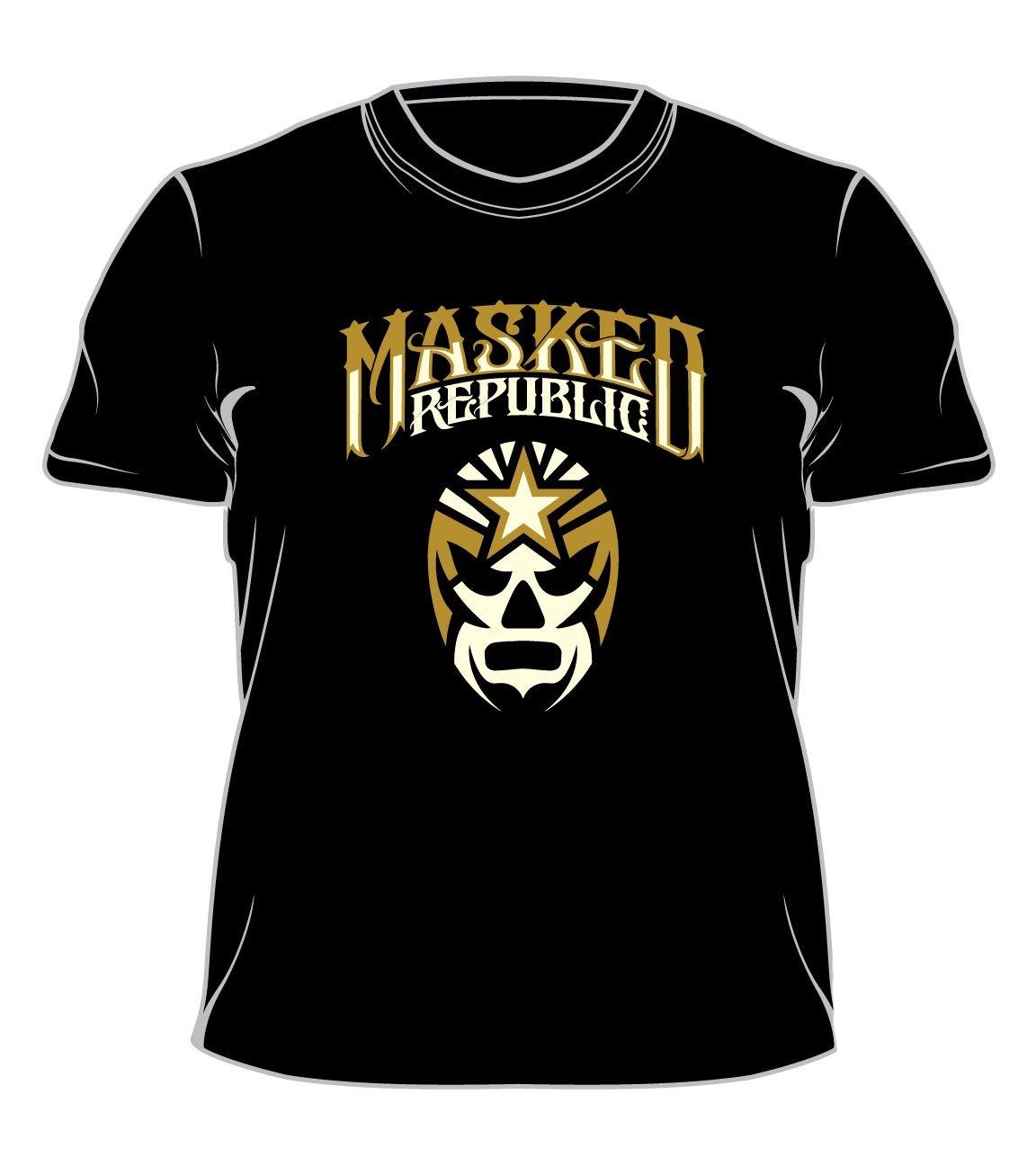 Image of Masked Republic Logo T: Tan & White