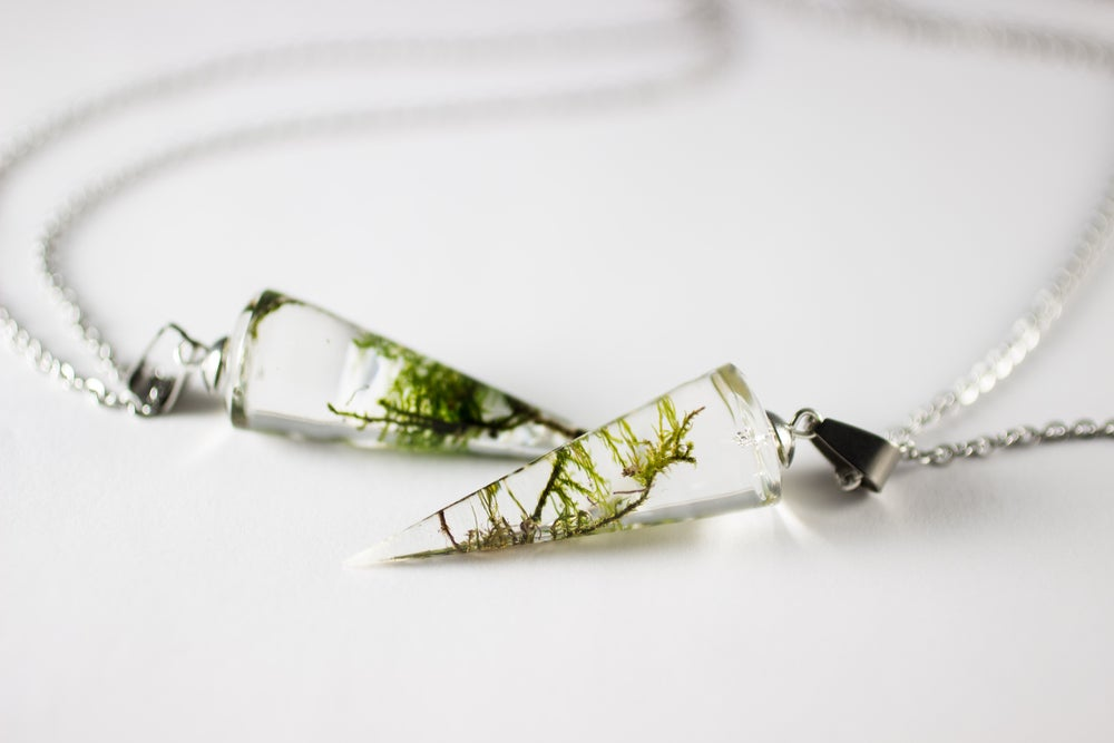 Image of Limited Time Conical Grave Moss Necklaces!