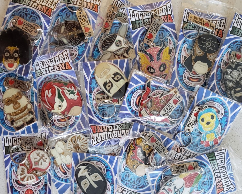 Image of 2-pack Mystery Luchador Keychain