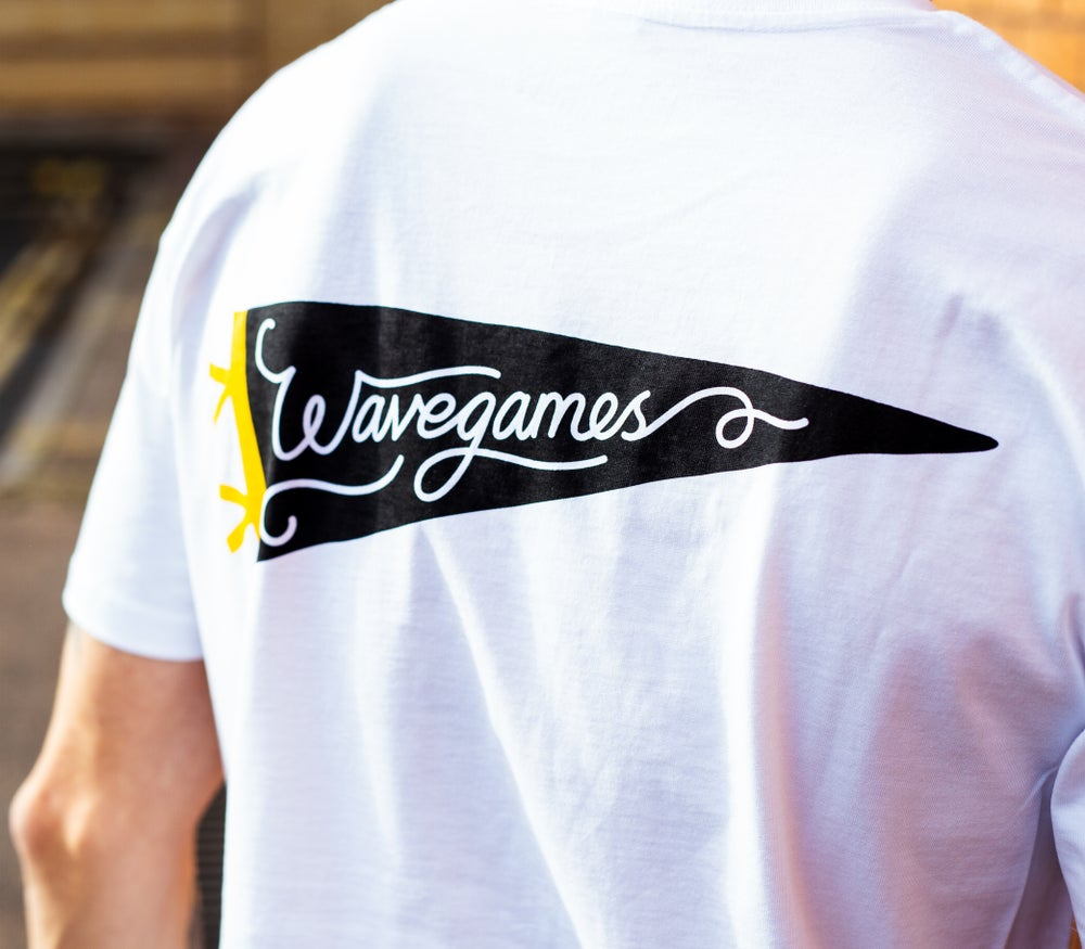 Image of Wave Games Pennant Tee in White