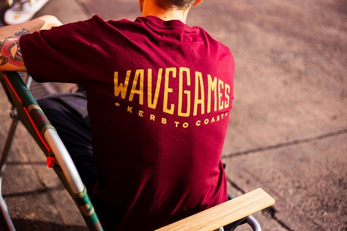 Image of Wave Games Classic Logo Tee Burgundy