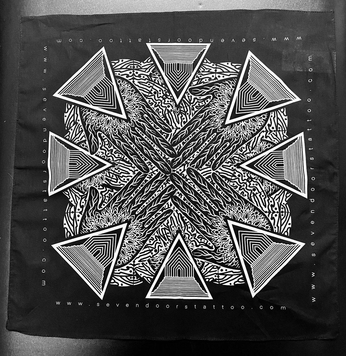 Image of  Seven Doors Bandana Silver