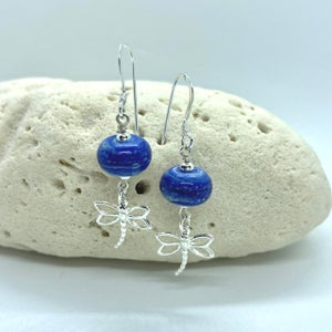 Image of Blue Heather Dangle Earrings