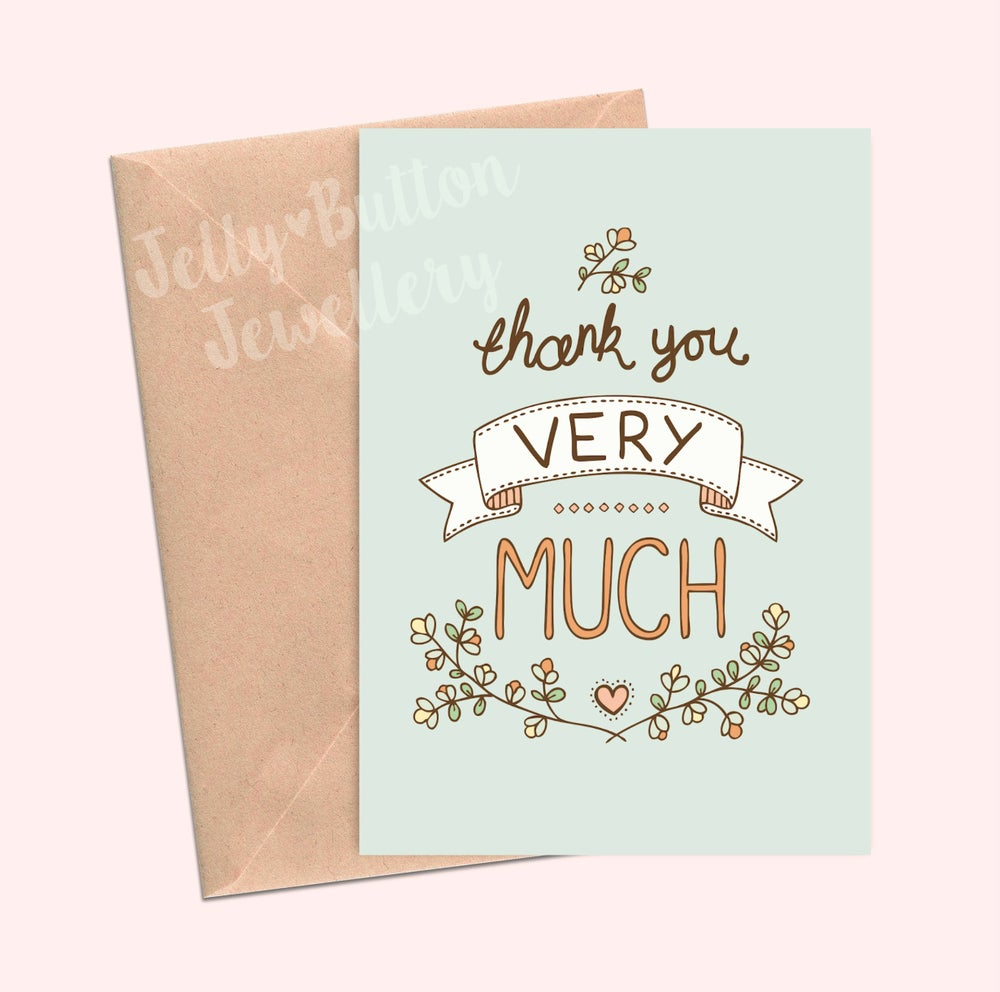 Image of Thank You Very Much Greetings Card