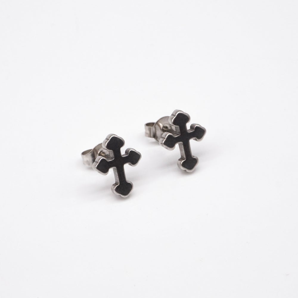 Image of LYDIA | Cross Studs