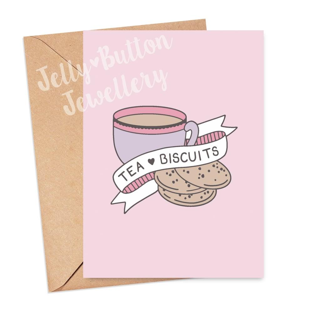 Image of Tea & Biscuits Greetings Card