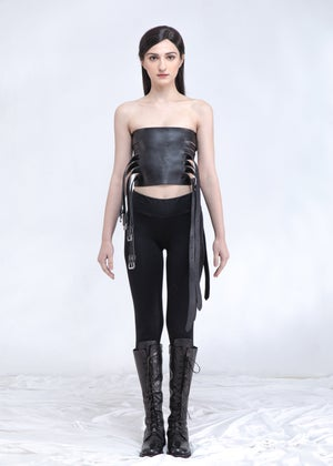 Image of Leather Corset & Harness & Belt