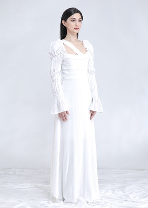 Image of Lela Maxi Dress & Gown In White