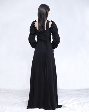 Image of Lela Maxi Dress & Gown in Black