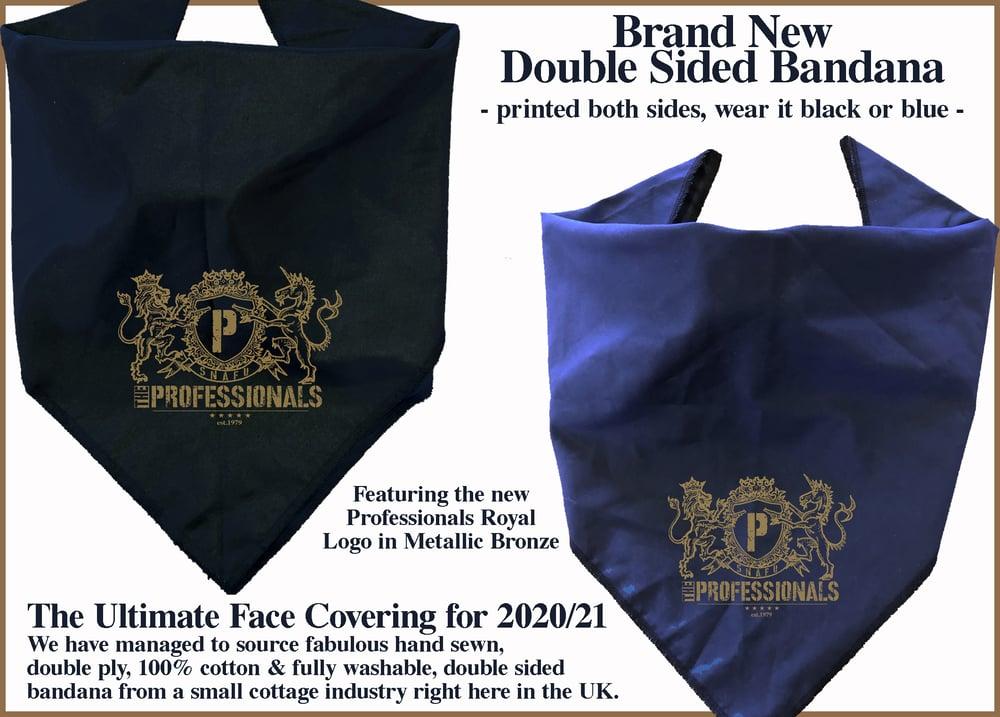Image of NEW Professionals Royal Logo Double Sided Bandana
