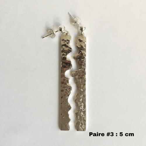 Image of Boucles d'oreilles Metaonda - Argent