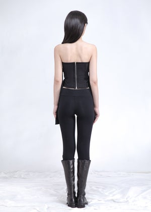 Image of Black Crossover Corset Tube Top