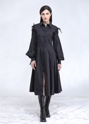 Image of Fitted Shirt Dress