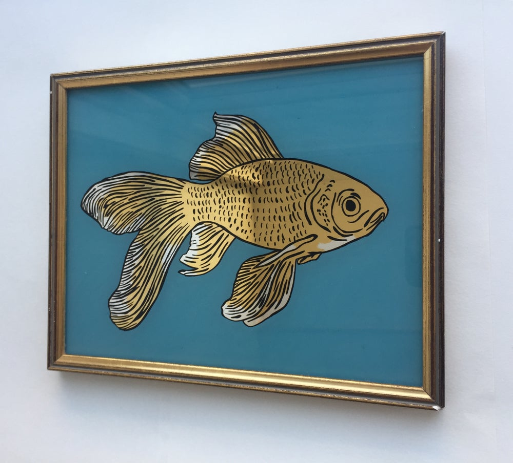 Image of GOLDfish Gilded Glass Artwork