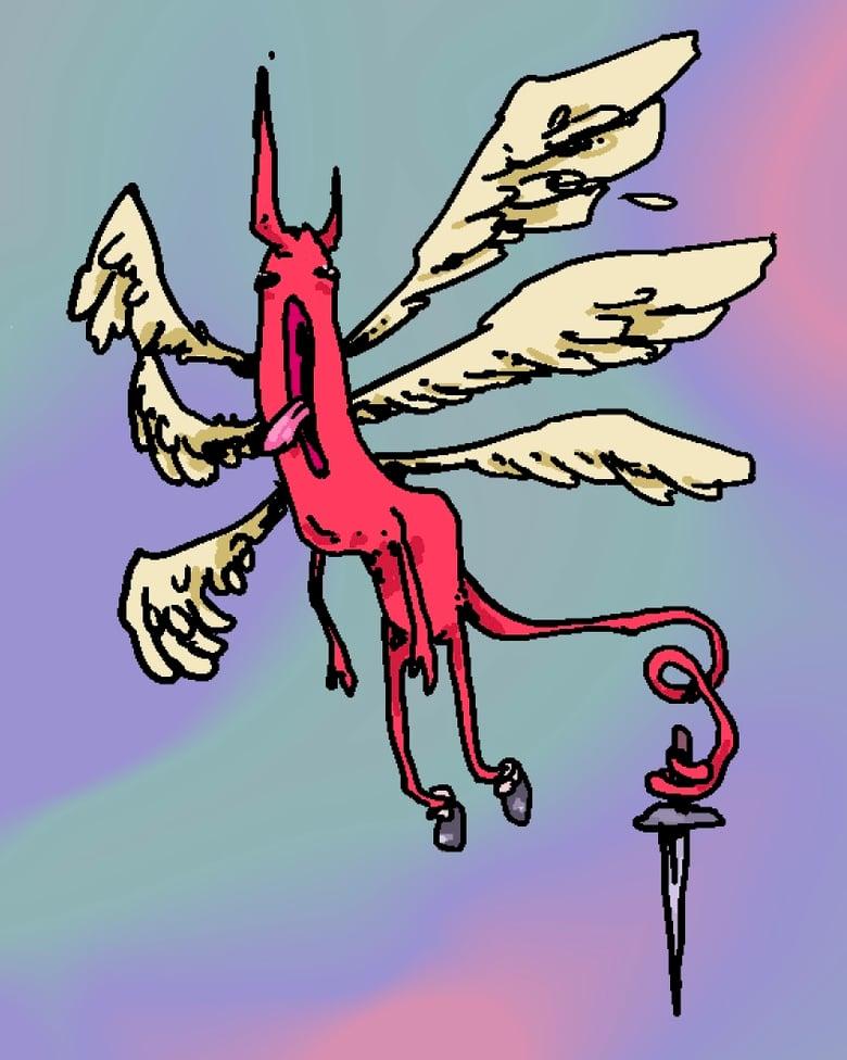 Image of Holographic Devil Sticker Sheet PREORDER