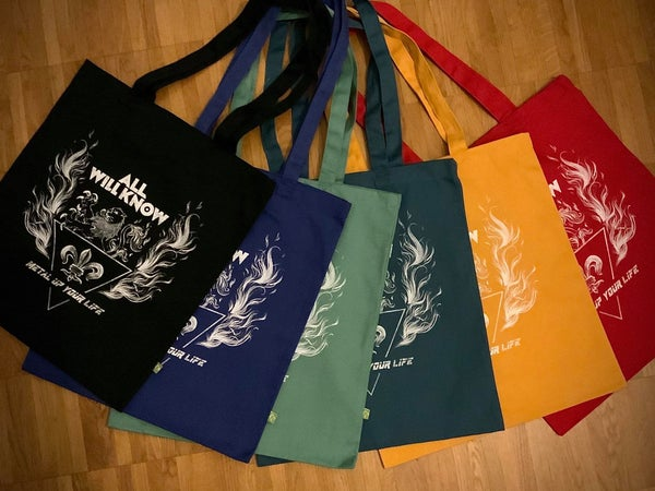 "Image of ALL WILL KNOW - Metal Up Your Life - Tote Bag ""Earth Aware"""
