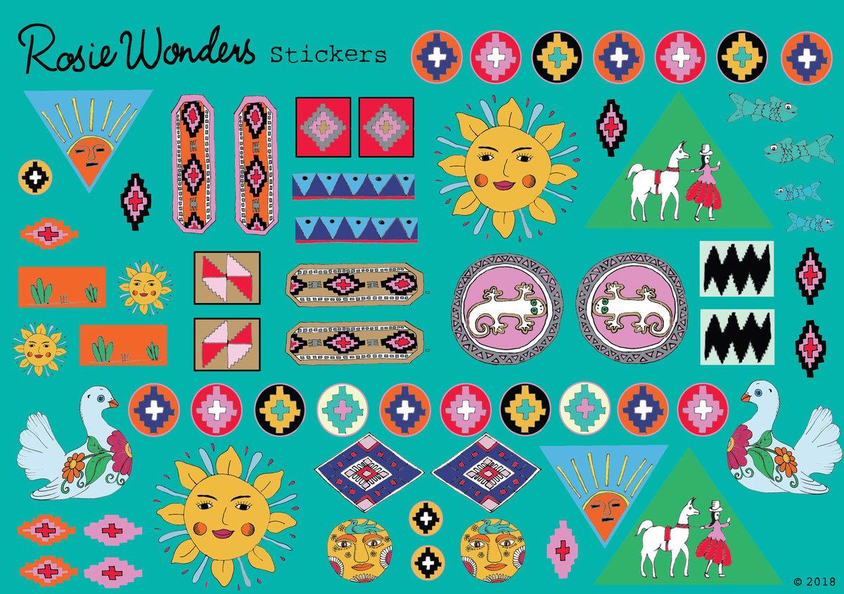 folk Sticker Sheet
