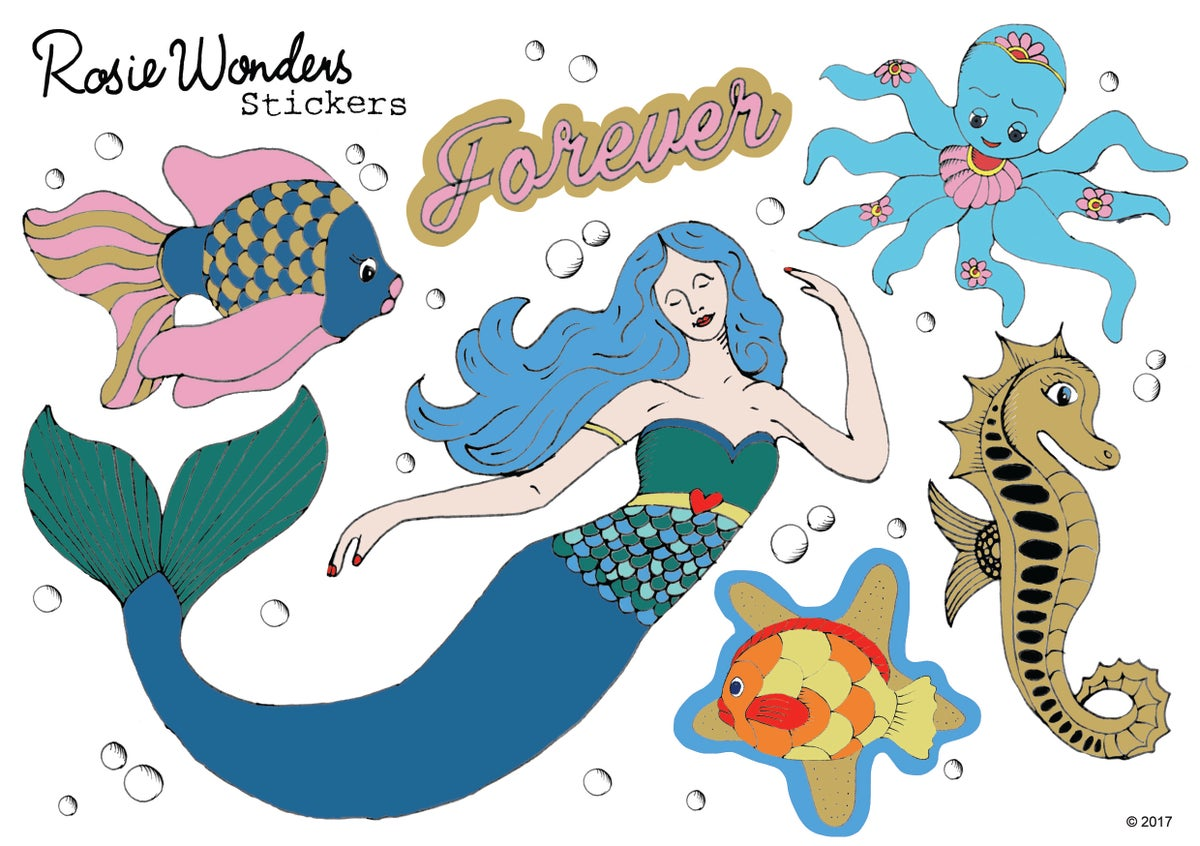 Forever Mermaid Stickers