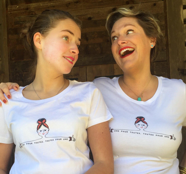 "Image of The Simones X Mademoiselle Caroline - Tee Shirt ""UNE POUR TOUTES"""