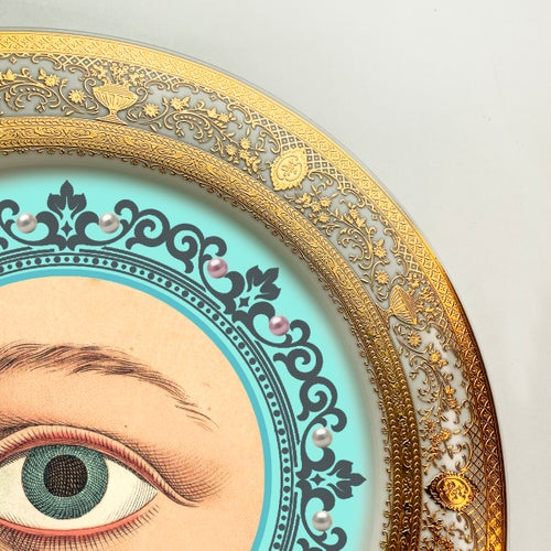 Image of Lover's Eye - Light Blue - Fine China Plate - #0738