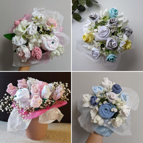 Image of Baby Clothes Bouquet