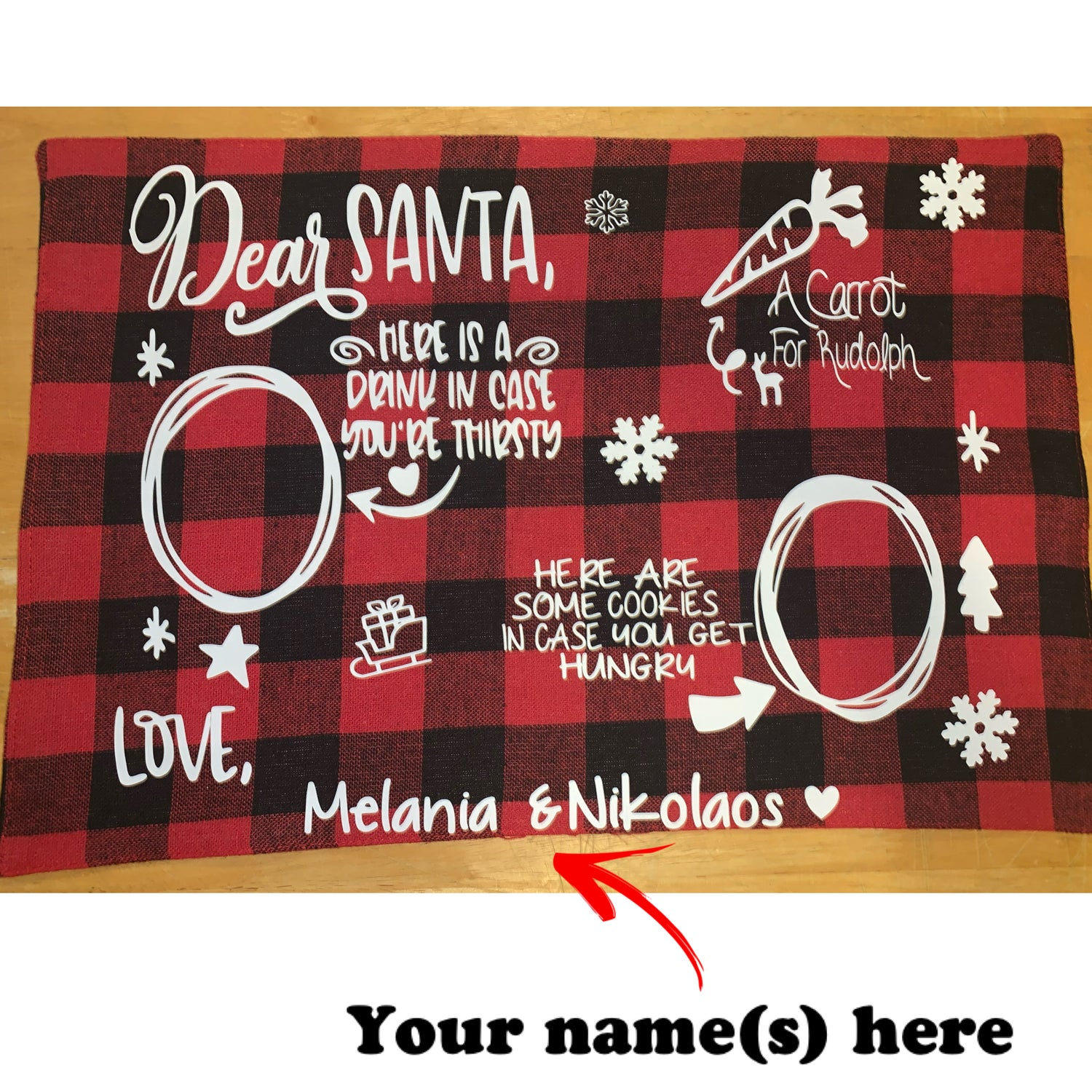 Image of Santa's Snack Placemat