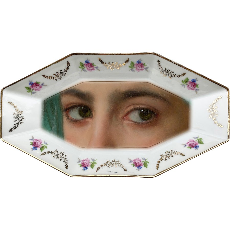 Image of Lover's eye Tray - Green Eyes - #0715 UNIQUE PIECE