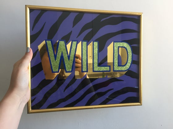 Image of 'WILD' Gilded Glass Sign