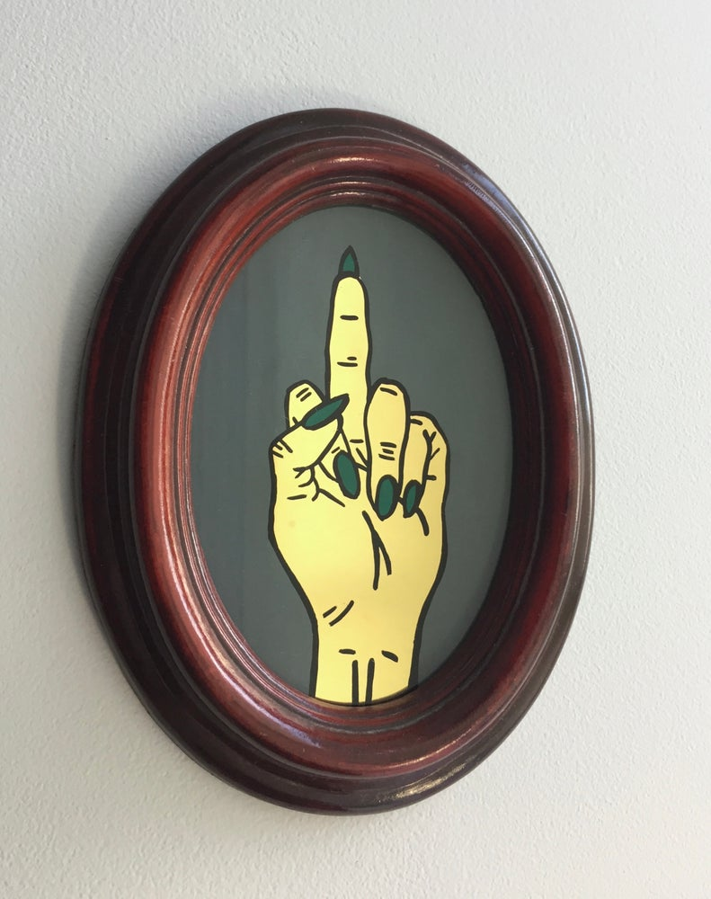 Image of Middle Finger Hand Gesture - Small Gold
