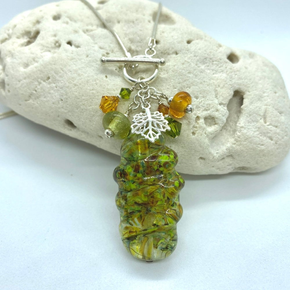 Image of Autumn Leaves Toggle Necklace