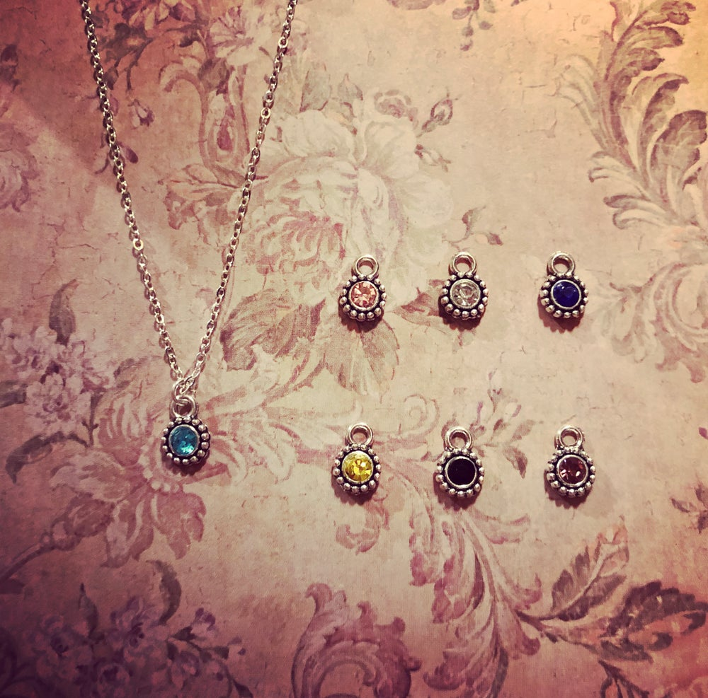 Image of Dainty detailed stone necklace - 7 colours