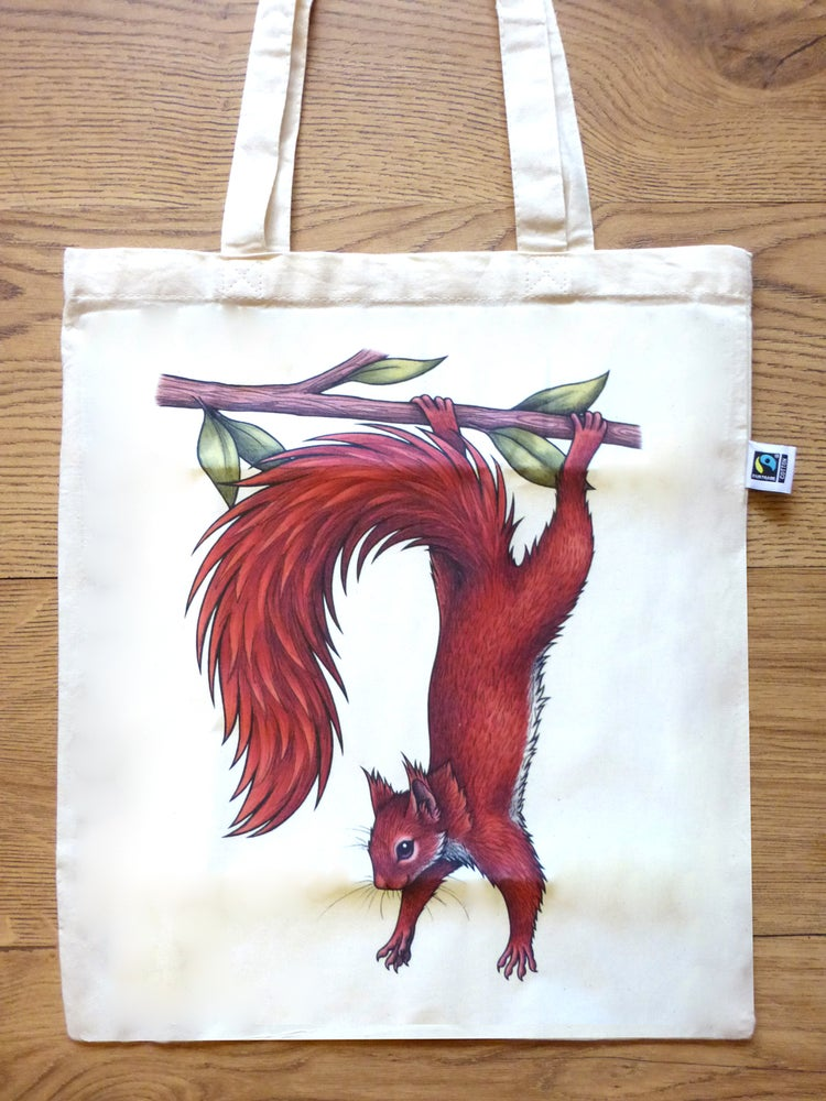 Image of Red Squirrel Tote Bag
