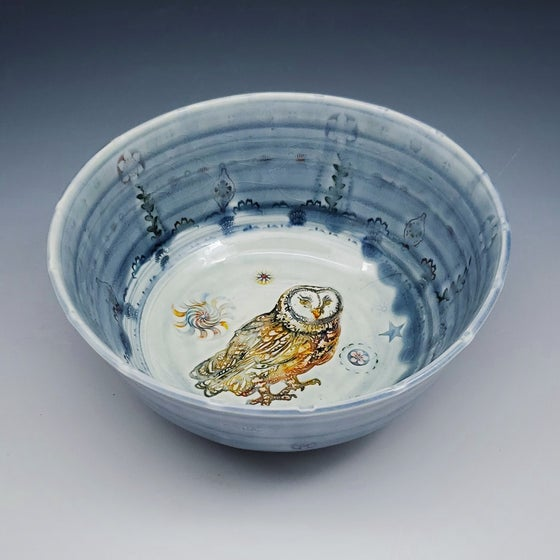 Image of Barn Owl  Porcelain Bowl