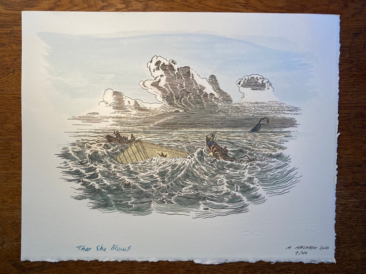 Image of Thar She Blows (hand tinted)