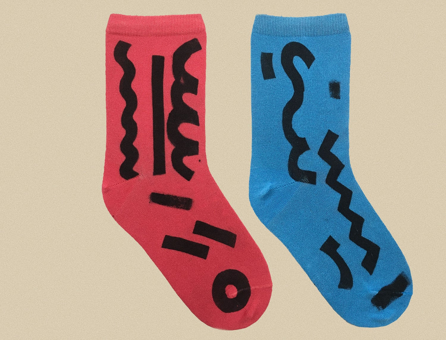 Image of BLUE AND RED SOCK