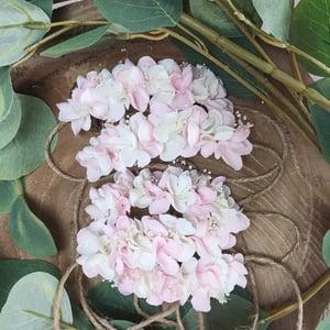 Image of Mini halo rose et blanc