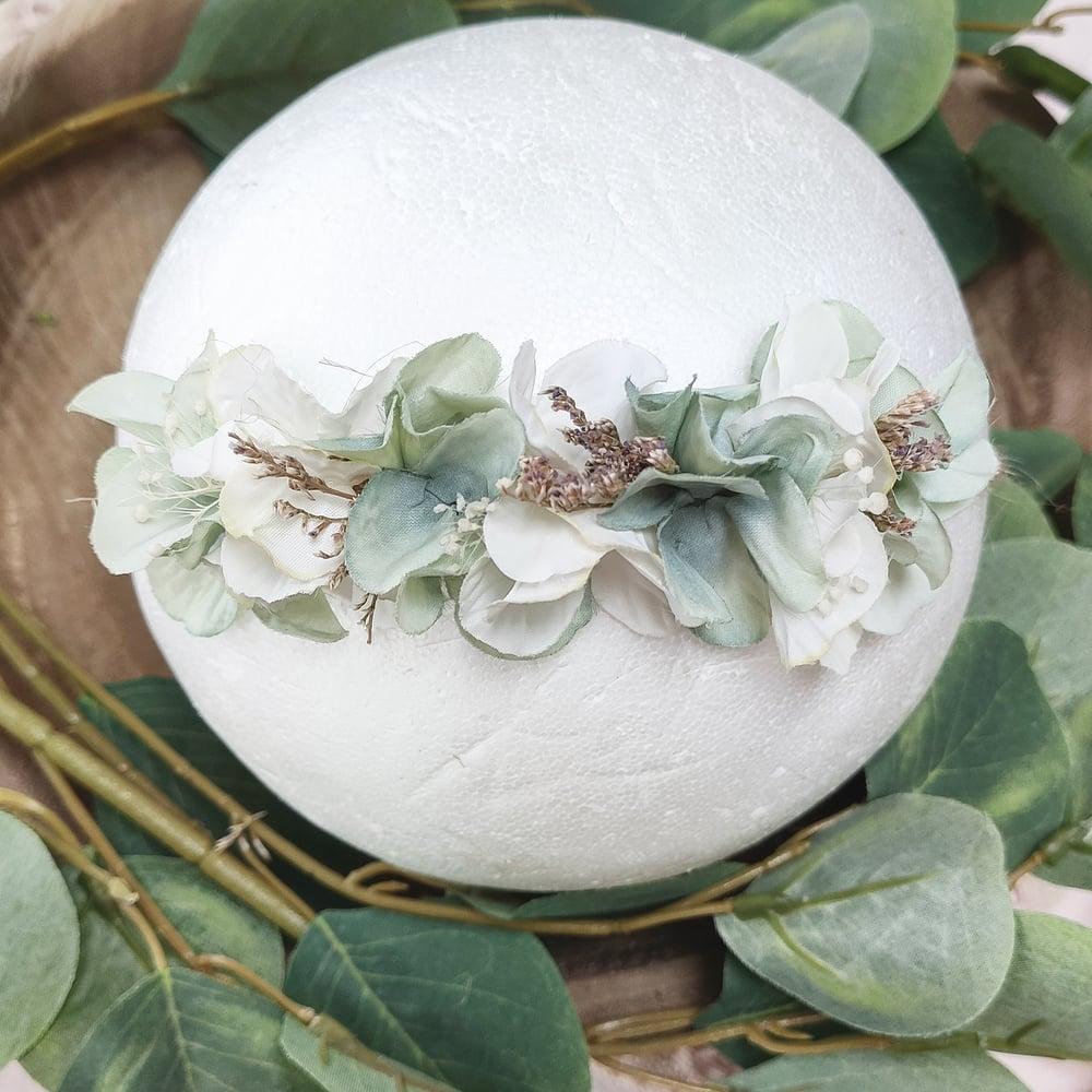Image of Mini halo sauge et blanc