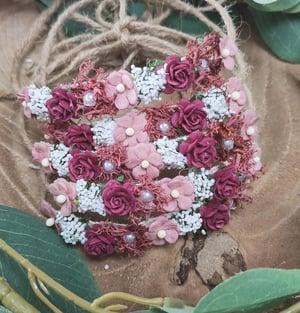 Image of Mini halo cerise et vieu rose