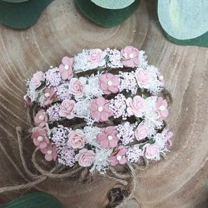 Image of Mini halo rose pâle et vieu rose
