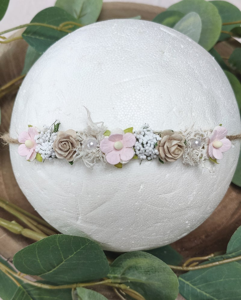 Image of Mini halo rose pâle et taupe