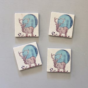 Image of Elk Moon Coasters (set of 4)