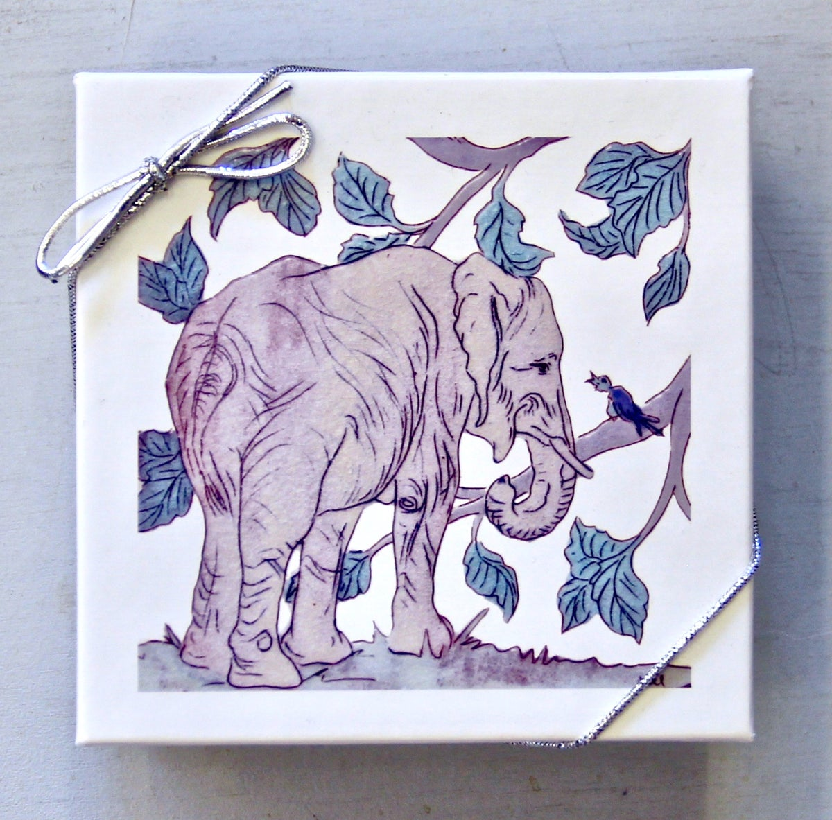 Image of Forest Elephant Coasters (set of 4)