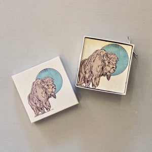 Image of Bison Moon Coasters (set of 4)