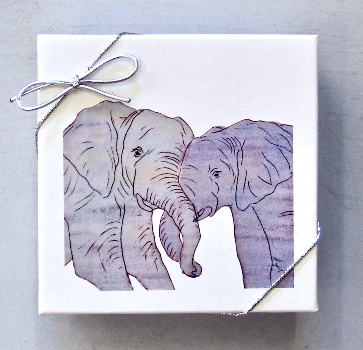 Image of Elephant Love Coasters (set of 4)