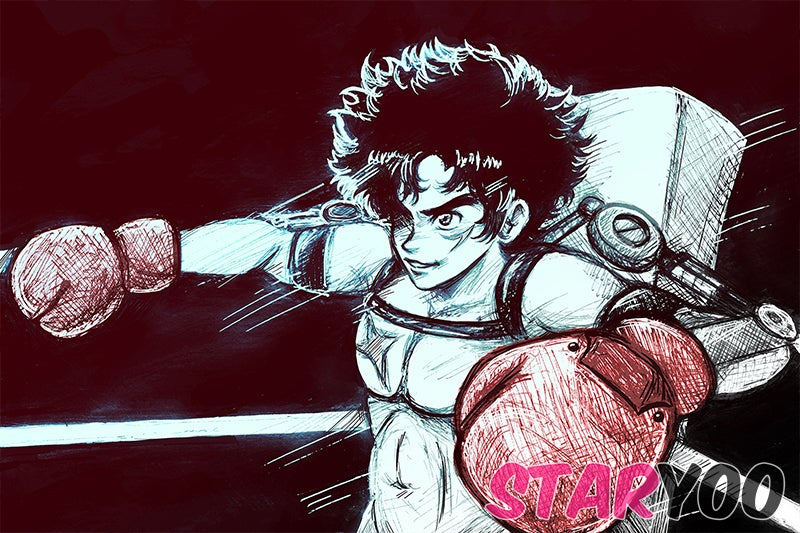 Anime Boxer Postcard