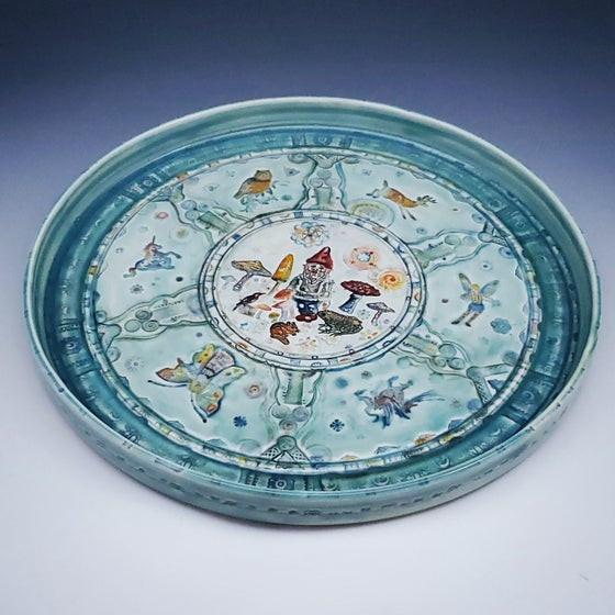 Image of Fairytale Porcelain Handpainted Platter