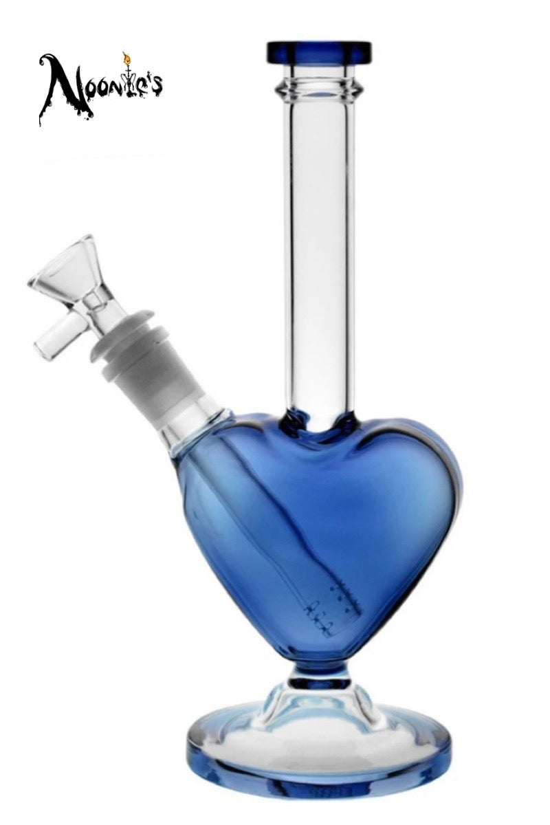 Image of Heart of glass water pipe